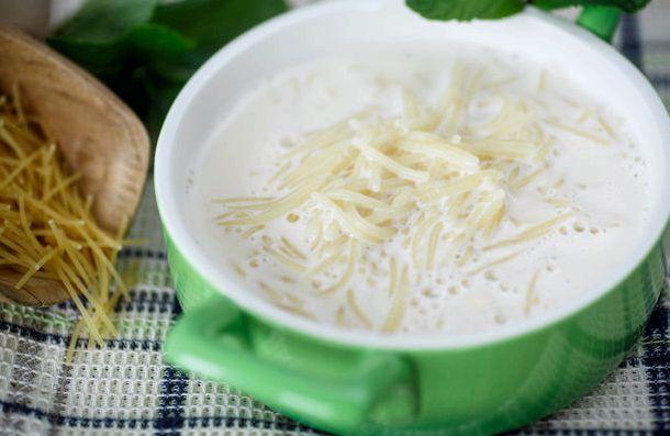 Молочный суп рецепт с вермишелью и картошкой