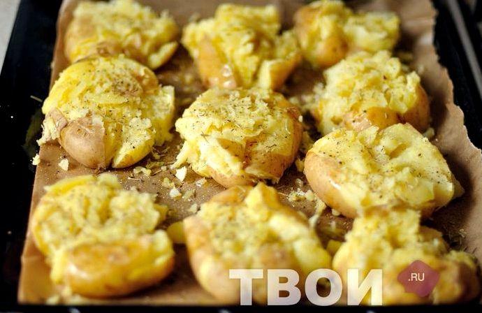 Молодая картошка в духовке рецепт с фото пошагово