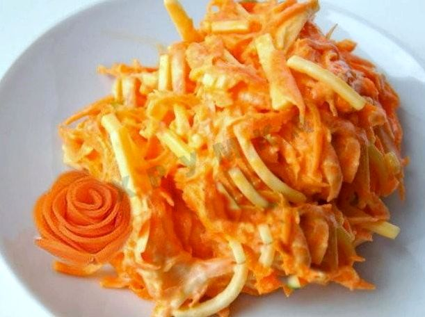 Морковь с сыром чесноком и майонезом рецепт