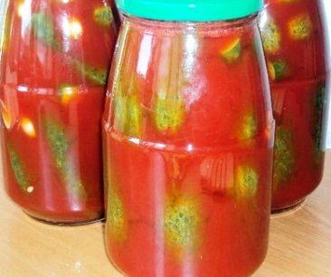 Огурцы в томатной заливке на зиму рецепт