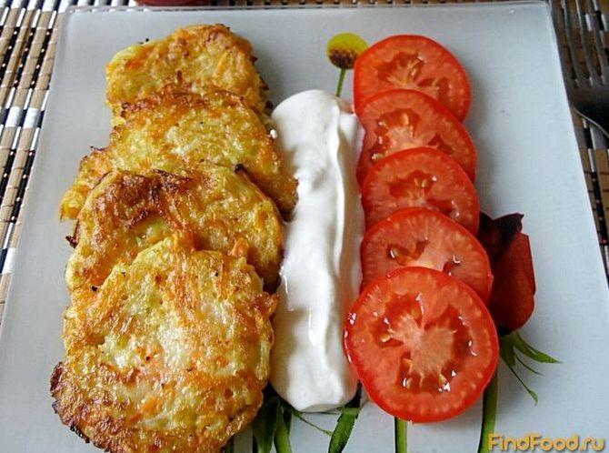 Оладьи из кабачков и моркови рецепт с фото пошагово