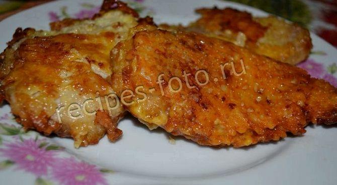 Отбивные с сыром из свинины на сковороде рецепт с фото
