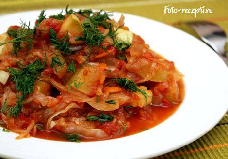 Овощное рагу рецепт с кабачками и капустой