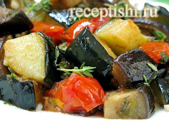 Овощное рагу рецепт с картошкой баклажанами