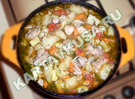 Овощное рагу с кабачками и картошкой рецепт с фото в духовке с мясом