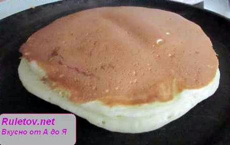 Панкейки рецепт с фото на кефире с фото пошагово