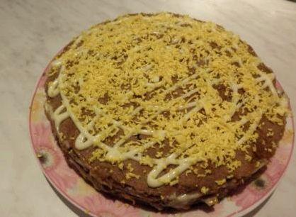 Печеночный торт рецепт с фото пошагово из свиной печени без молока