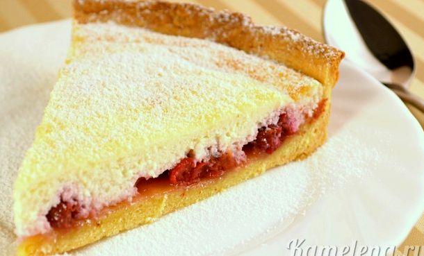 Песочный пирог с творожной начинкой рецепт с фото