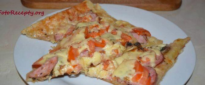 Пицца рецепт из слоеного теста в домашних условиях в духовке
