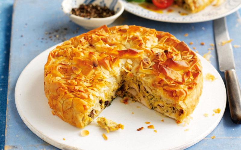 Заливной пирог с мясом на кефире рецепт с фото