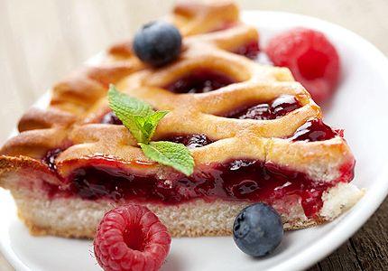 Пирог из малинового варенья рецепт с фото