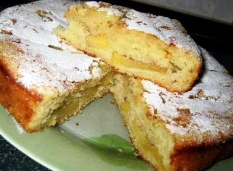 Пирог на кефире сладкий рецепт с фото