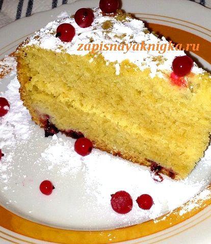 Пирог на сметане рецепт с фото с ягодами