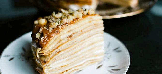 Пирог римский слоеный со сгущенкой рецепт с фото