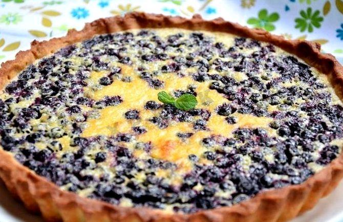 Пирог с черникой из песочного теста рецепт