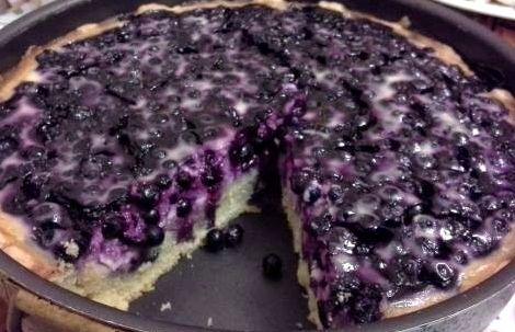 Пирог с черникой заливной рецепт с фото