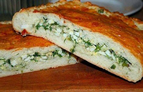 Пирог с яйцами и зеленым луком рецепт