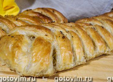 Пирог с капустой рецепт из слоёного теста