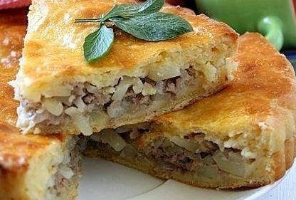 Пирог с картошкой и курицей в духовке пошаговый рецепт с фото