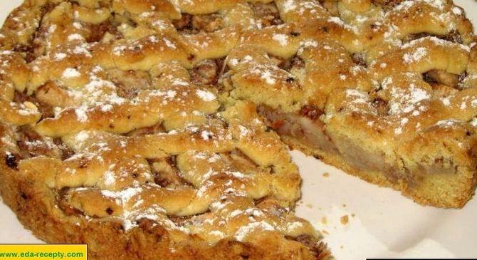 Пирог с корицей и яблоками рецепт с фото