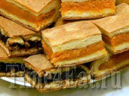 Пирог с курагой и черносливом рецепт с фото