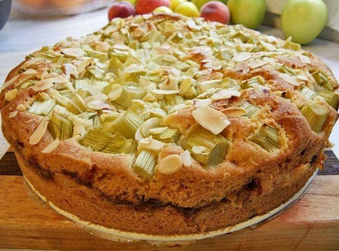 Пирог с ревенем рецепт из дрожжевого теста