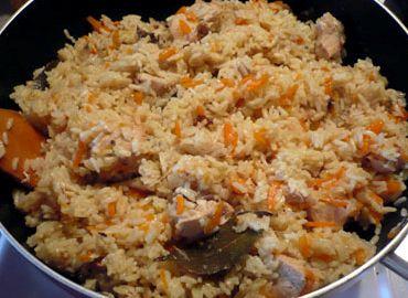 Плов на сковороде со свининой рецепт с фото