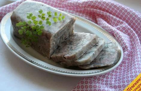 Прессованное мясо из свиной головы пошаговый рецепт с фото