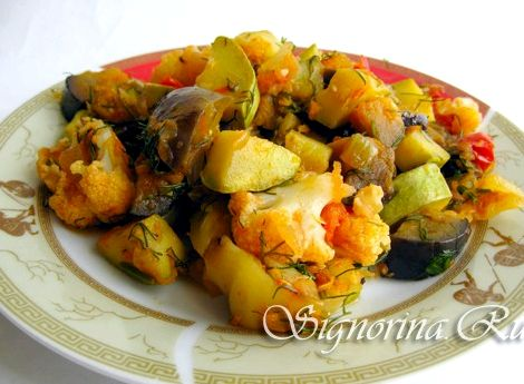 Рагу овощное с кабачками и цветной капустой рецепт с фото