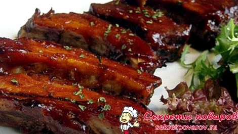 Ребрышки свиные рецепт в кисло сладком соусе