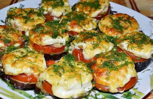 Рецепт баклажаны с чесноком и сыром в духовке