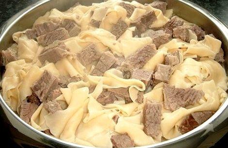 Рецепт бешбармака из свинины в домашних условиях