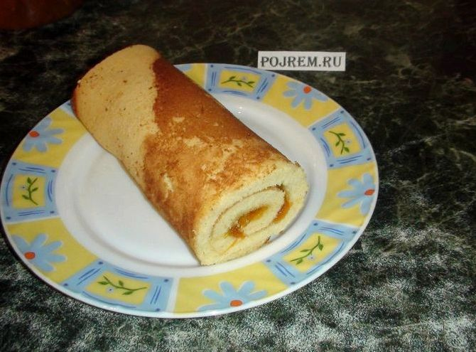 Рецепт бисквитного рулета рецепт с фото