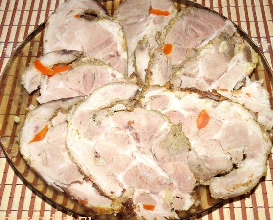 Рецепт буженины из свинины запеченной в духовке в рукаве