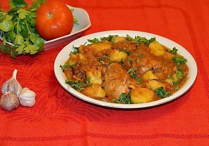 Рецепт чахохбили из курицы с картошкой