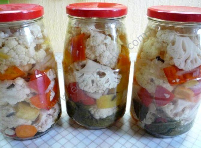 Рецепт цветной капусты на зиму в банках
