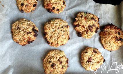 Рецепт диетического печенья из овсяных хлопьев