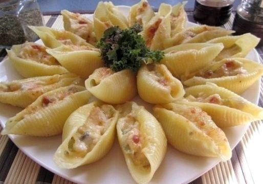 Рецепт фаршированные макароны ракушки с фаршем