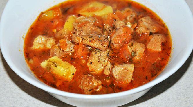 Рецепт гуляш по-венгерски из говядины рецепт
