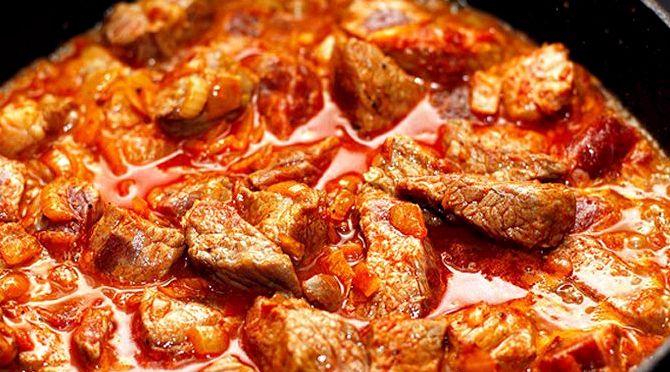 Рецепт гуляша из свинины в мультиварке