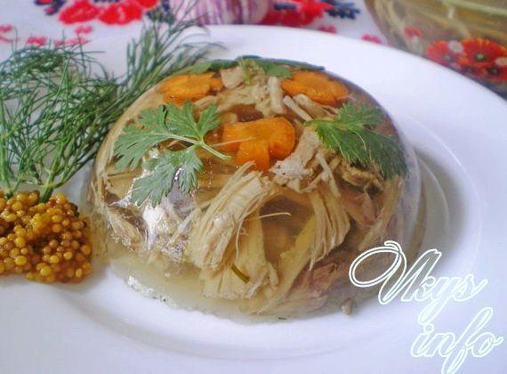 Рецепт холодца из рульки свиной и курицы