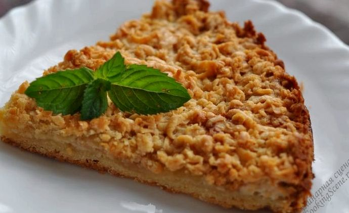 Рецепт яблочный пирог из песочного теста с фото