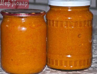 Рецепт кабачковой икры с майонезом и томатной пастой и чесноком