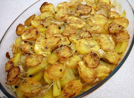 Рецепт картошка с кабачками в духовке
