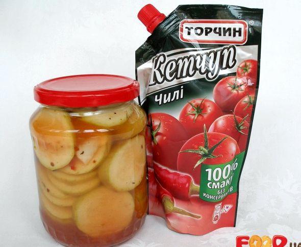 Рецепт консервации кабачков с кетчупом