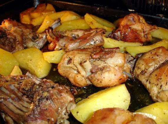 Рецепт кролика с картошкой в духовке