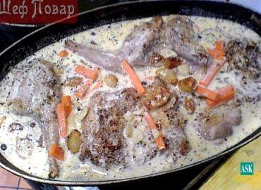 Рецепт кролика в сметане с фото в духовке
