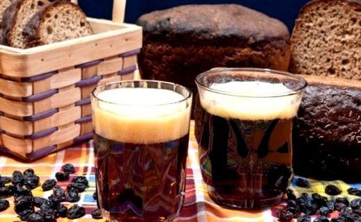 Рецепт кваса из черного хлеба с дрожжами