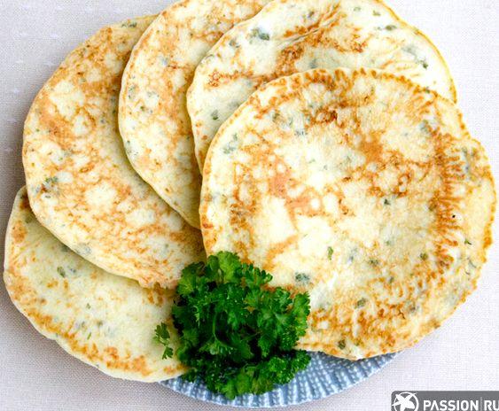 Рецепт лепешки на сковороде с зеленью