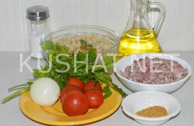 Рецепт макароны по флотски с фаршем с помидорами